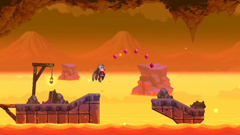 Kaze and the Wild Masks platforming gameplay.
